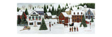 Christmas Valley Village Premium Giclee Print by David Carter Brown