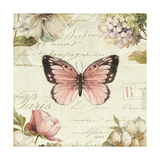Marche de Fleurs Butterfly I Print by Lisa Audit