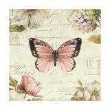 Marche de Fleurs Butterfly I Giclee Print by Lisa Audit