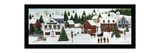 Christmas Valley Village Giclee Print by David Carter Brown