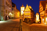 Rothenburg Ob Der Tauber at Night, Bavaria, Germany Photographic Print by  Zoom-zoom
