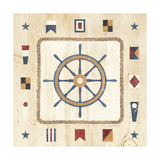 Nautical Wheel Giclee Print by Avery Tillmon