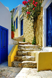 Pretty Colored Streets of Greek Islands Impressão fotográfica por  Maugli-l