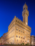 The Old Palace at Night in Florence Photographic Print by  boule