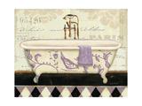 Lavender Marche de Fleurs Bath II Poster by Lisa Audit