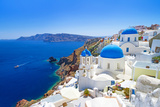 White Architecture of Oia Village on Santorini Island, Greece Photographic Print by Patryk Kosmider