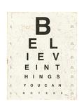 Eye Chart I Giclee Print