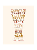Beer Pilsner Giclee Print by Anna Quach