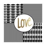 Love 4 Patch Giclée-Druck von Linda Woods