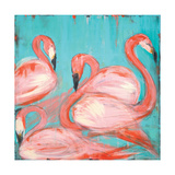 Flamingos Poster by Melissa Lyons