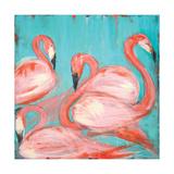 Flamingos Poster by Melissa Lyons