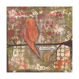Thankful Heart Bird Prints by Cassandra Cushman
