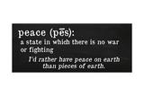 Peace Definition Giclee Print by Anna Quach