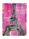 Pink Eiffel Print by Melissa Lyons