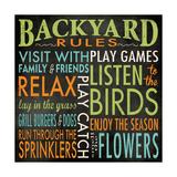 Backyard Rules Lámina giclée por Stephanie Marrott
