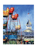 Balboa Ferris Wheel Prints by Leslie Saeta
