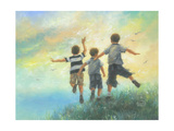 Three Brothers Leaping Prints by Vickie Wade