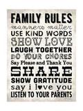 Family Rules - Cream II Lámina giclée por Stephanie Marrott
