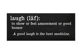 Laugh Definition Giclee Print by Anna Quach