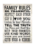 Family Rules - Cream Poster par Stephanie Marrott
