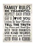 Family Rules - Cream Giclée-Druck von Stephanie Marrott