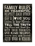 Family Rules - Black Giclée-Druck von Stephanie Marrott