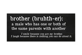 Brother Definition Giclee Print by Anna Quach