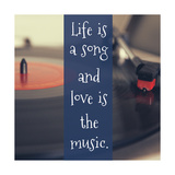 Life Is a Song Giclee Print by Ashley Hutchins