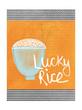 Lucky Rice Giclee Print by Linda Woods