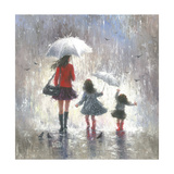 Rainy Day Walk with Mom Posters by Vickie Wade