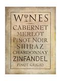 Vinos Lámina giclée por Stephanie Marrott