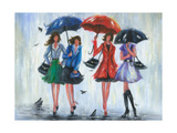 Four Rain Girls Posters by Vickie Wade