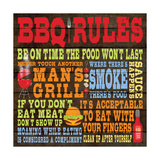 Bbq Rules Print by Stephanie Marrott