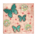 Joy Peace Butterflies Print by Cassandra Cushman