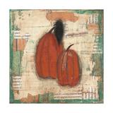 Pumpkins and Crow Art by Cassandra Cushman