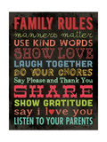 Family Rules - Color II Lámina giclée por Stephanie Marrott