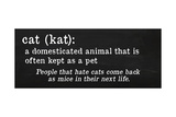 Cat Definition Giclee Print by Anna Quach