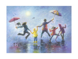 Singing in the Rain Art by Vickie Wade