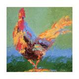 Rooster V Poster by Leslie Saeta