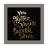 You Glitter - Gold Print by Linda Woods