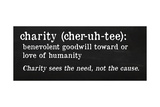 Charity Definition Prints by Anna Quach