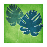 Palm Leaves Giclee Print by Linda Woods