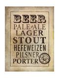 Vintage Beer Lámina giclée por Stephanie Marrott