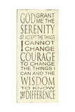 Serenity Prayer Print by Holly Stadler