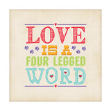 Love Is Square Print by Stephanie Marrott
