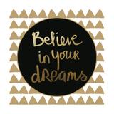 Dreams - Gold Kunstdrucke von Linda Woods