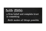 Faith Definition Giclee Print by Anna Quach
