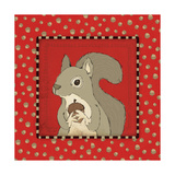 Squirrel in Frame Posters by Stephanie Marrott
