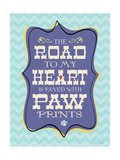 Paw Prints Lámina giclée por Stephanie Marrott