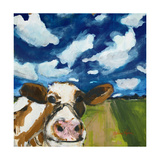 Happy Cow Giclee Print by Melissa Lyons